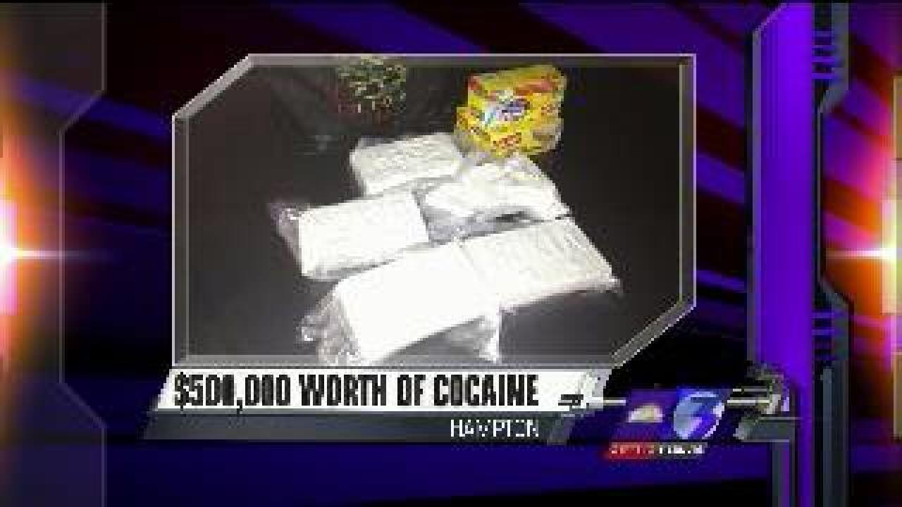 Hampton police seize $500,000 worth of cocaine, over $400,000 in cash after traffic stop