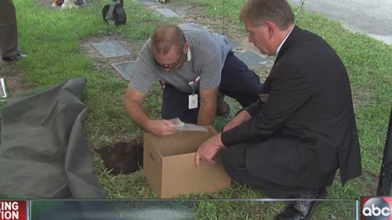 'Dozier boy' gets proper burial after 71 years
