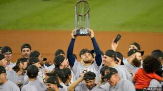 World Series Trophy on display at Hooks games