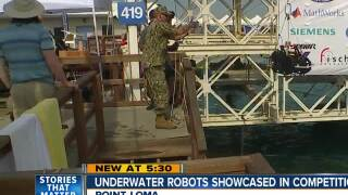 Underwater robots showcased in competition