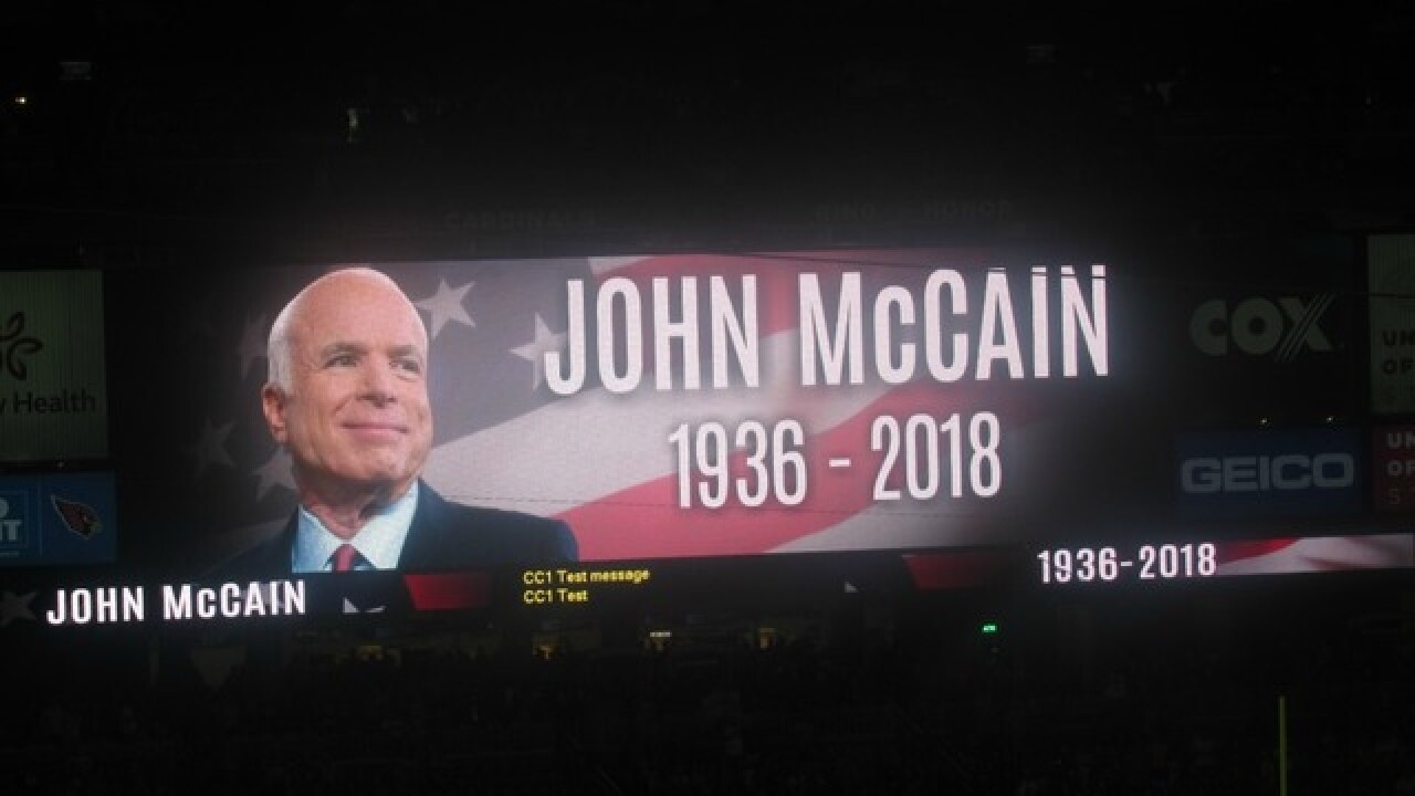 Arizona Cardinals honor John McCain before game in Glendale