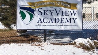 SkyView Academy Sign
