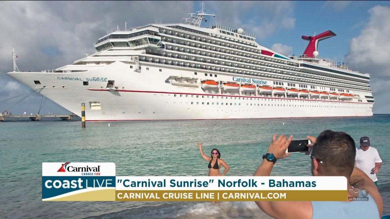 Announcing the winner of a Carnival cruise on Coast Live