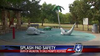 City provides splash pad safety  for bacteria protection
