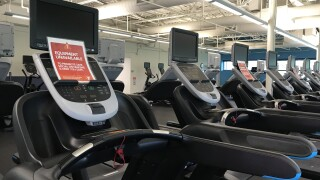 Row of treadmills at the YMCA