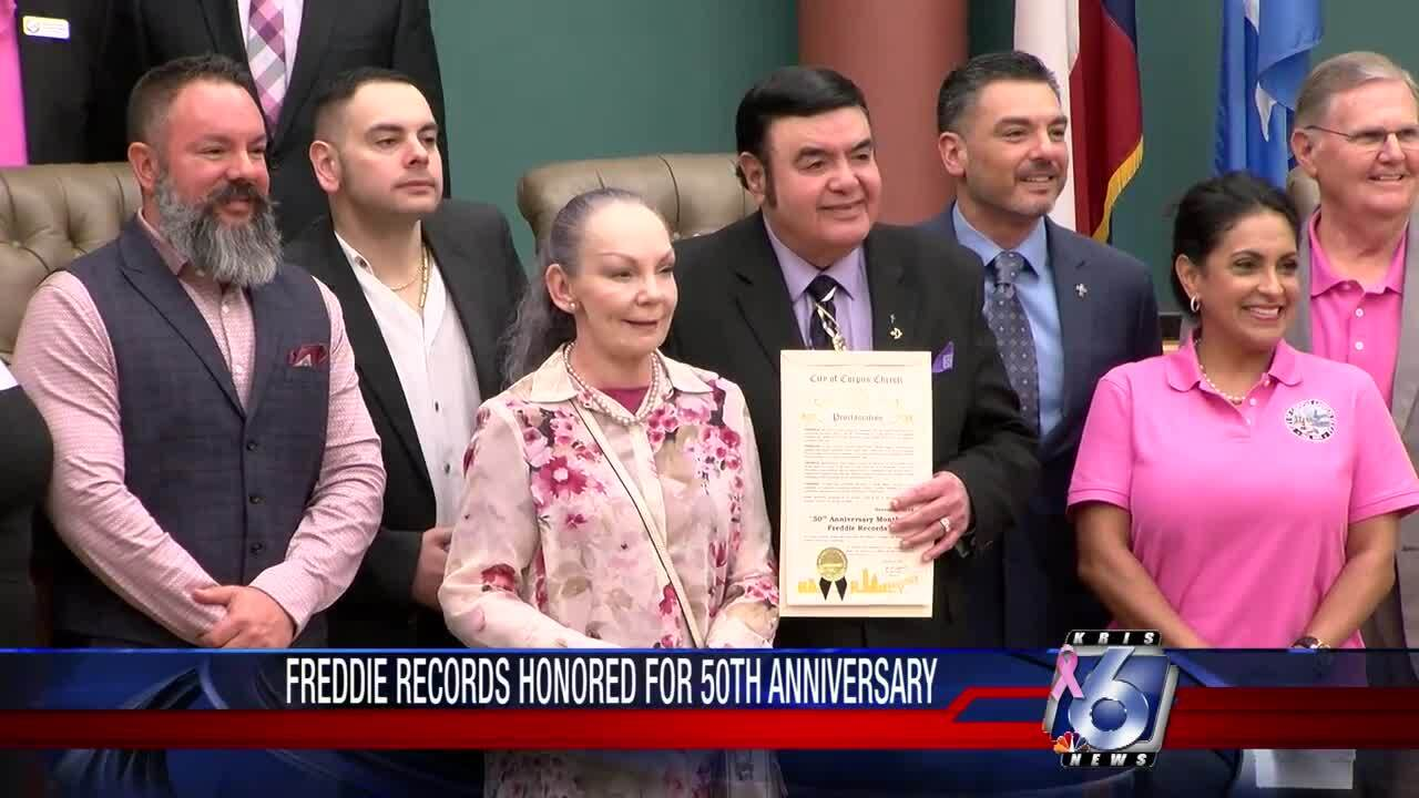 Freddie Records earns city's proclamation
