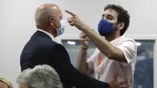 'Shame on you!': Protester interrupts Florida Gov. Ron DeSantis' press briefing