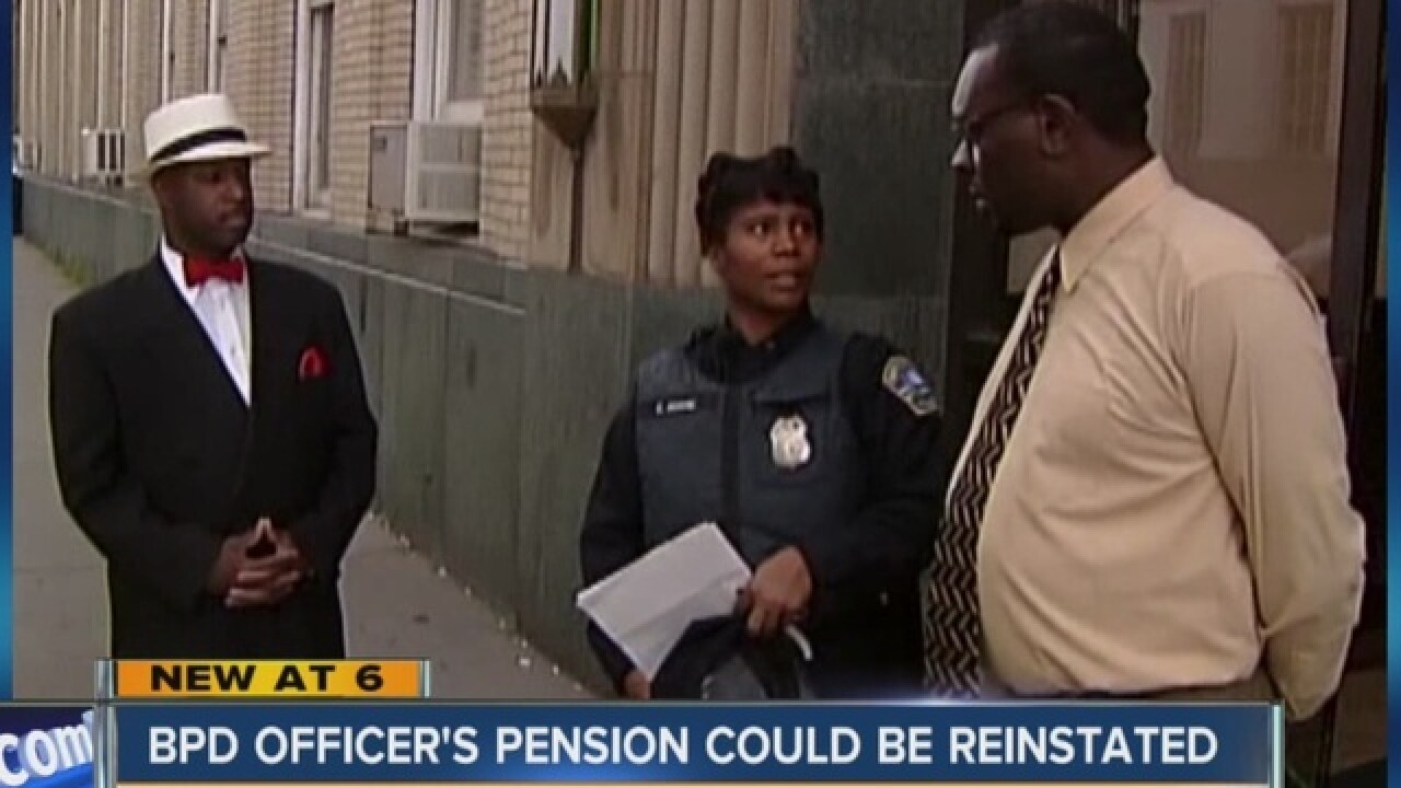 Officer removed from force could receive pension