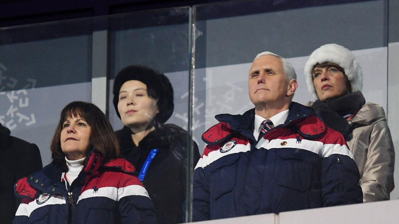 Kim Jong Un's sister sits just feet from Pence at Olympics opening ceremony
