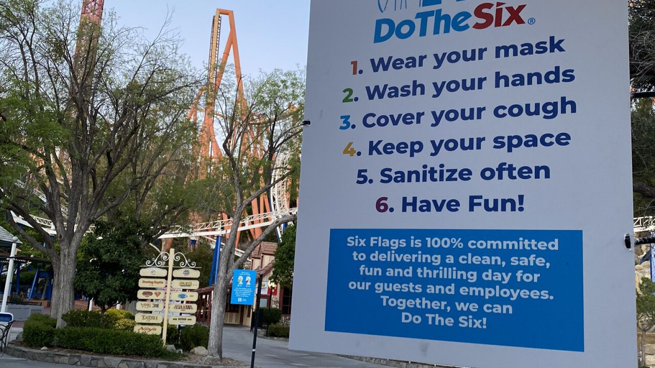 Six Flags Magic Mountain set to reopen today