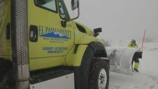 Snow plow driver El Paso County