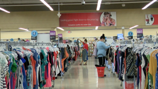 Shoppers at Savers