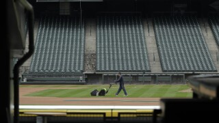APTOPIX Virus Outbreak MLB Empty Ballparks Baseball