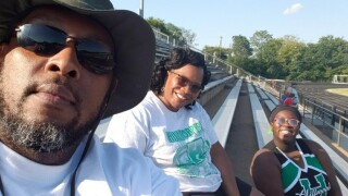 Parents in stands
