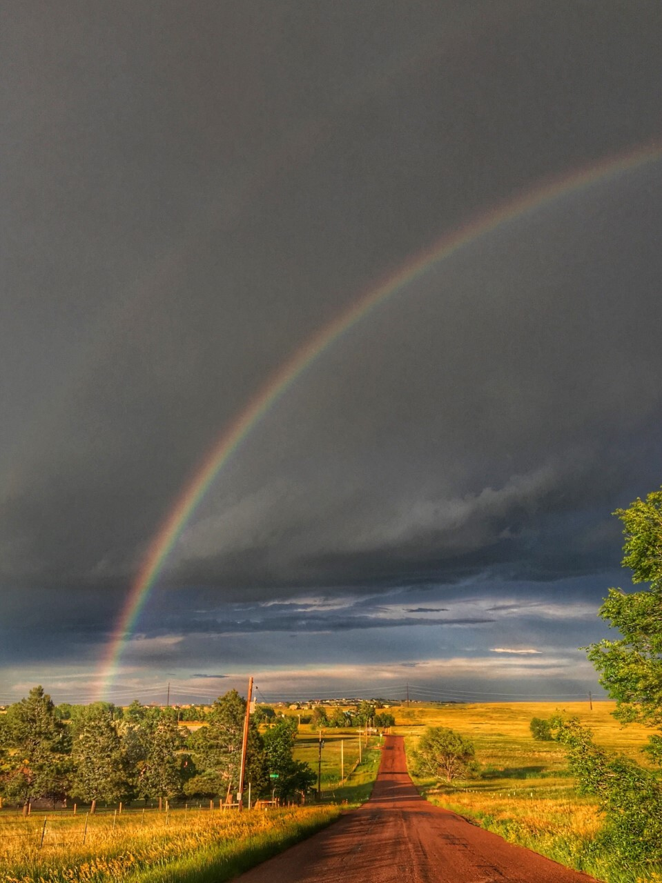 Double rainbow in Colorado Springs