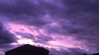 Hurricane Dorian turns Florida skies stunning shades of purple