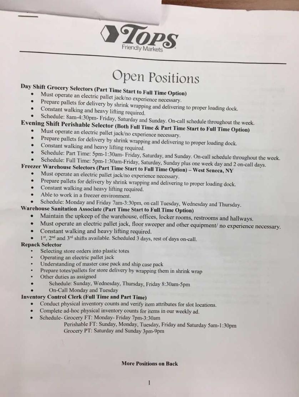 Tops Jobs 1