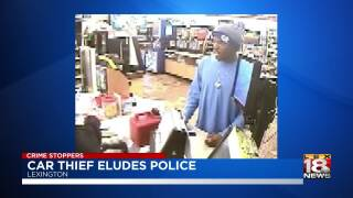 LEX 18 Crime Stoppers: Car Thief Eludes Police