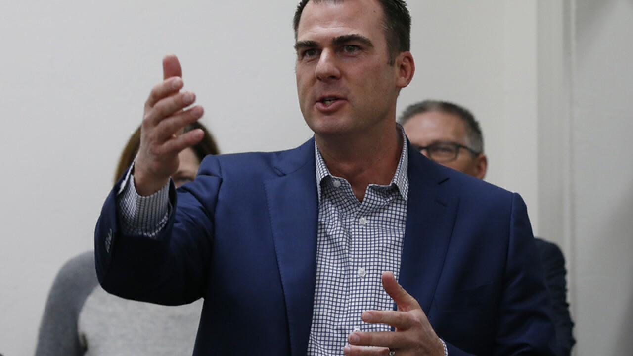 Governor-elect Kevin Stitt announces Chief of Staff, Secretary of State