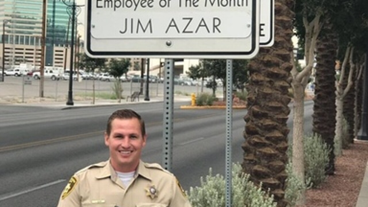 LVMPD officer honored for saving armed suspect