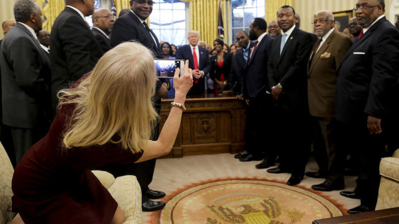 Photo of Kellyanne Conway on couch causes stir