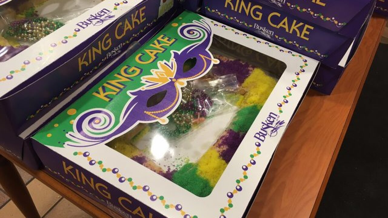 Busken Bakery cranking out Mardi Gras king cakes