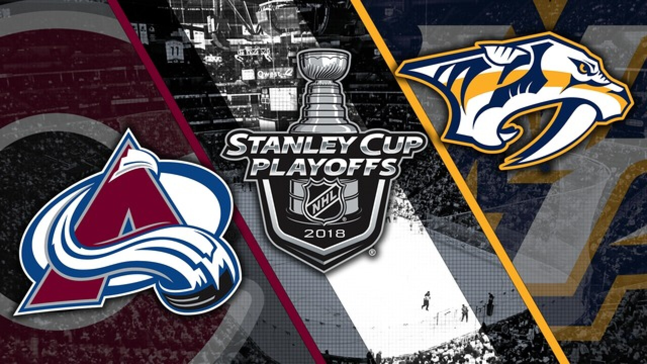 Nathan MacKinnon scored two goals as the Avalanche beat the Predators 5-3 in game 3 of their series