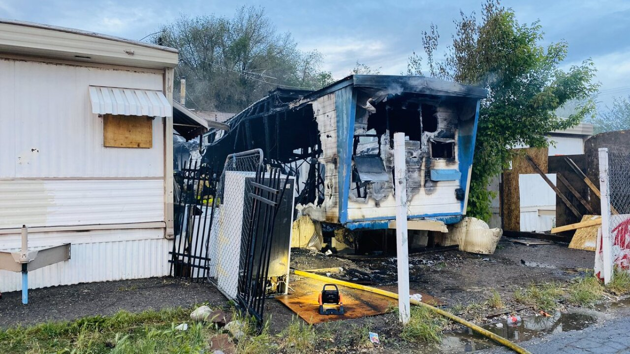 Fire burns three mobile homes at 1366 South Major Street