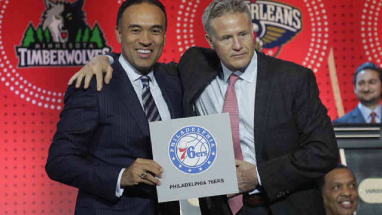 76ers win NBA draft lottery
