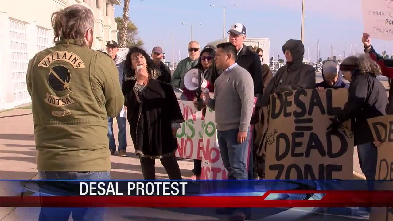 Protestors rally against proposed La Quinta corridor desalination plant