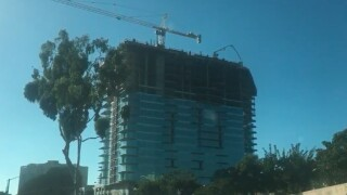 Construction worker lowered 20 stories with crane after injury at La Jolla high-rise