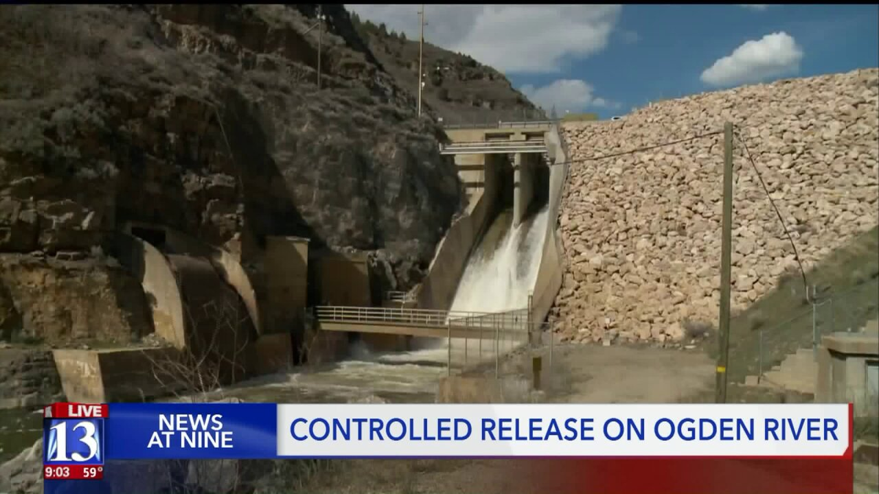 Pineview Reservoir filling fast, forcing water managers to nearly flood OgdenRiver