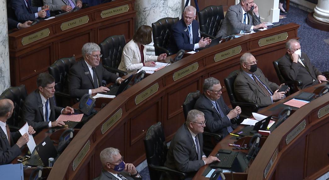 Idaho lawmakers inside House Chambers