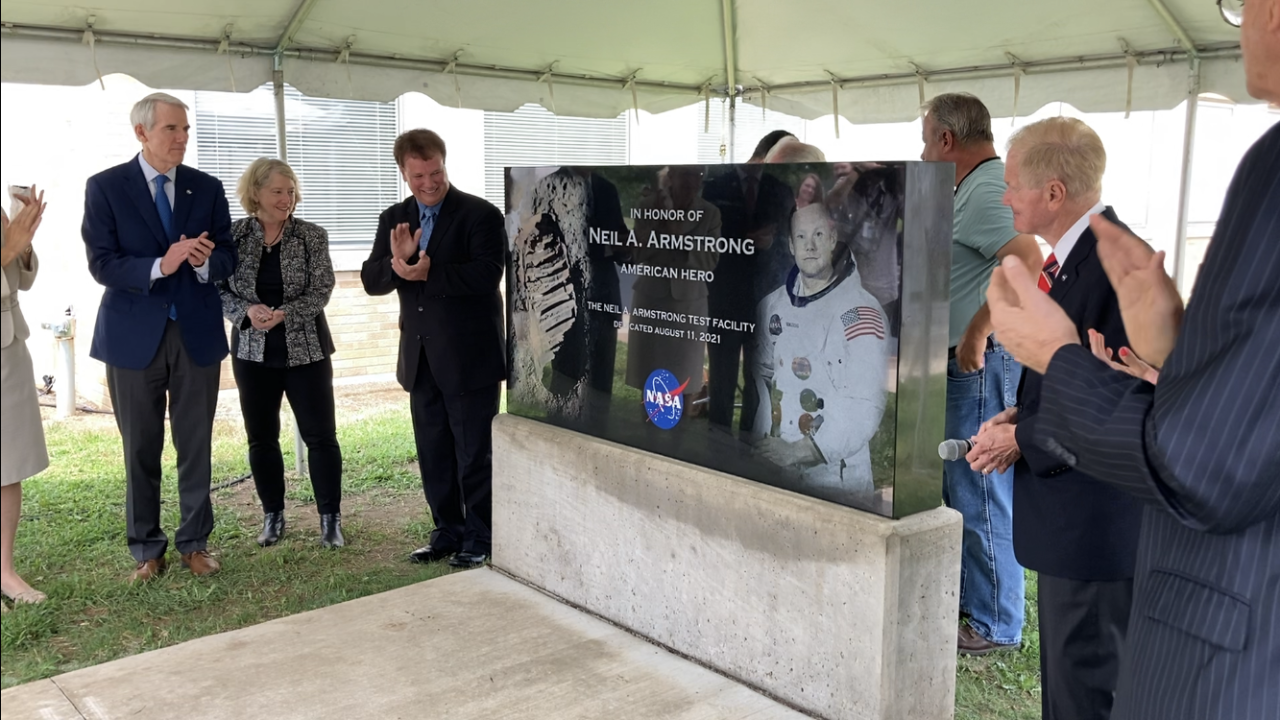 Neil Armstrong Testing site dedication