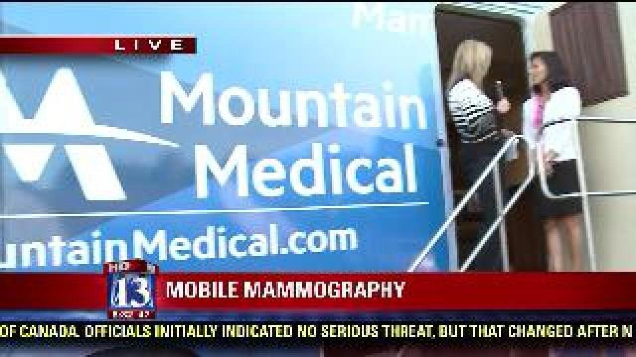 Mobile mammography van helps raise awareness for breast cancer prevention