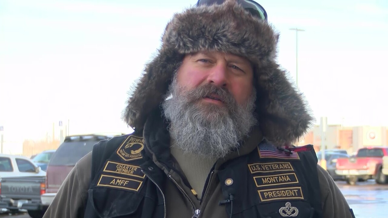 Andy Franks of the Great Falls chapter of the United States Veterans Motorcycle Club