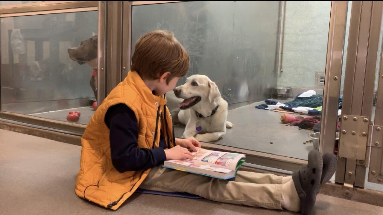 Eli reading to dog at MDSPCA.jpg