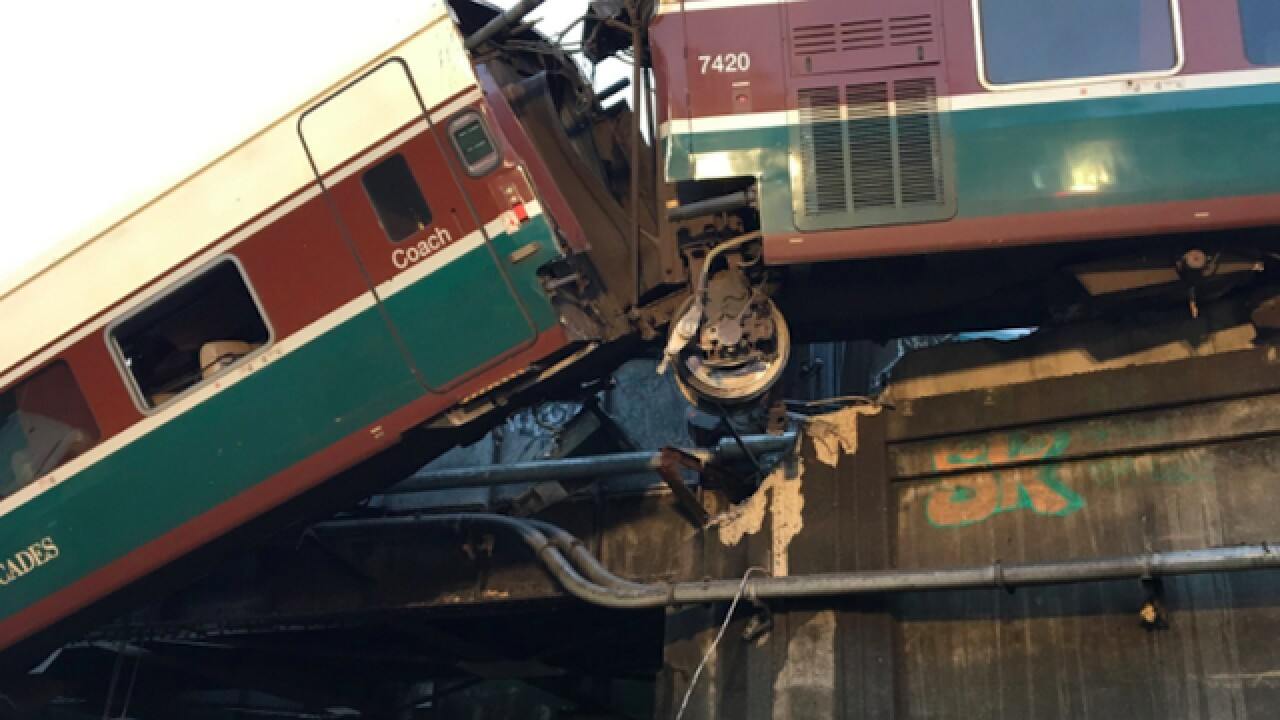 Amtrak train car derails in Washington
