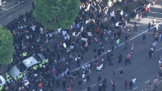 Police precinct protest