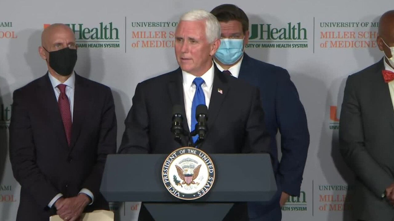 Vice President Mike Pence to visit Miami, receive update on coronavirus vaccine trials