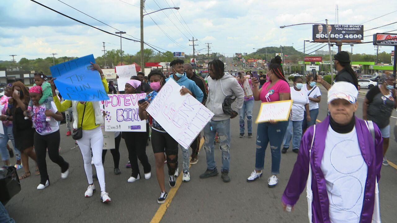 Jamayla Marlowe march