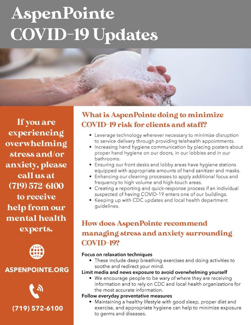 AspenPointe COVID-19 Updates