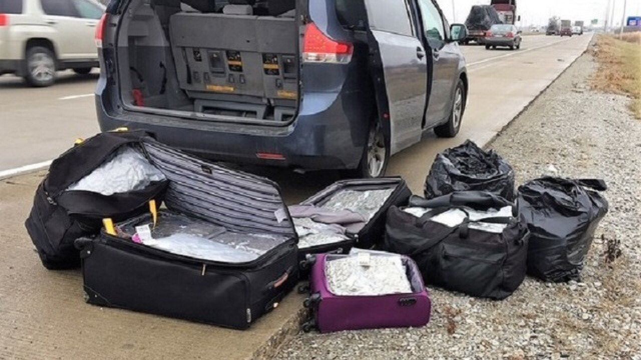 ISP: More than 100 lbs. of pot found in minivan