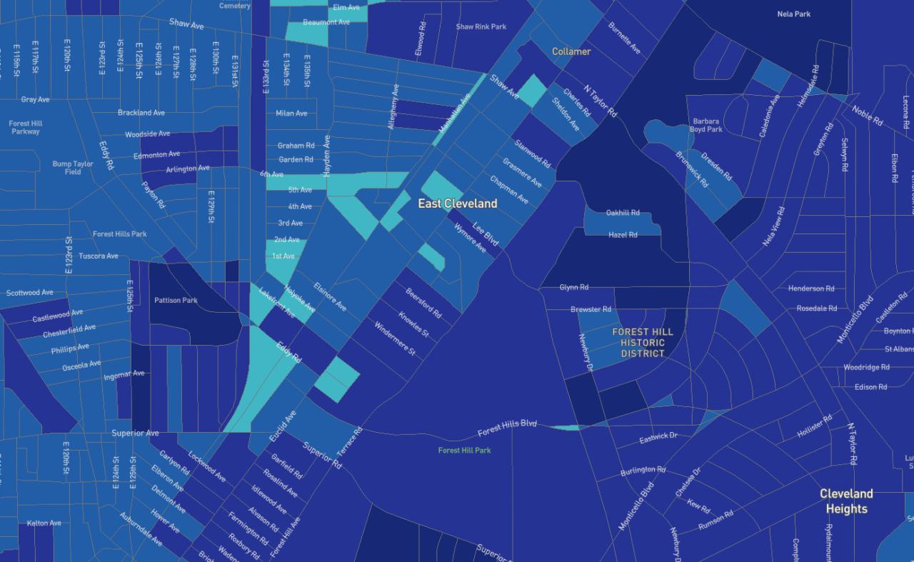 east cleveland broadband access map