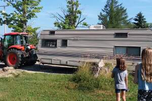 Lauren renovated the camper with help from family and friends