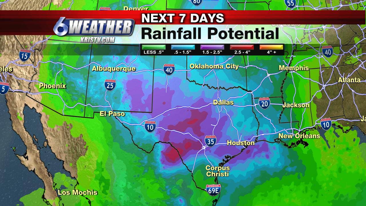 6WEATHER Rainfall Potential for 7-Days
