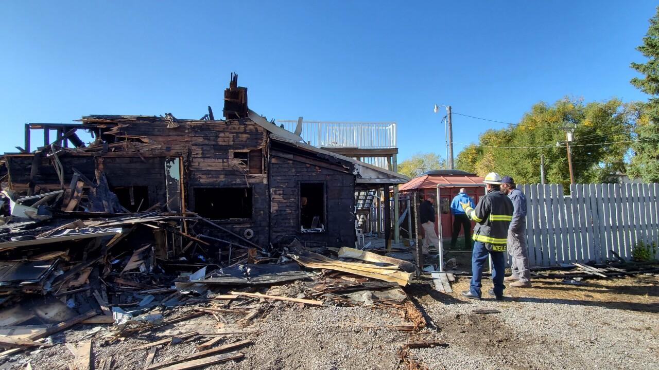 Photos: Fire destroys historic Bunkhouse Inn in Augusta