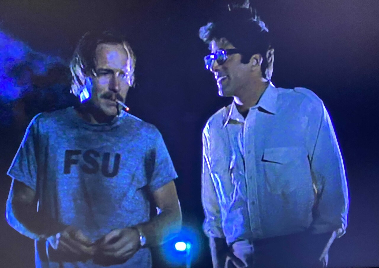 William Hurt and Ted Danson in scene from 'Body Heat'