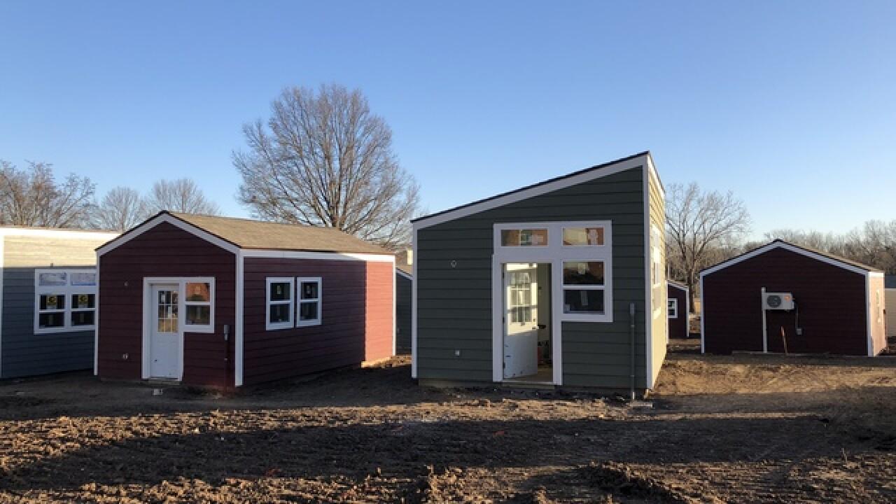 Tiny homes, big dreams: 13 homeless veterans move into tiny home