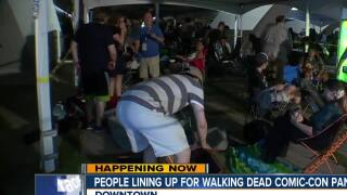 COMIC-CON sleepover: Superfans spend the night to secure a spot for Walking Dead Panel